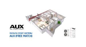 Инверторные  мульти сплит-системы AUX (FREE MATCH)